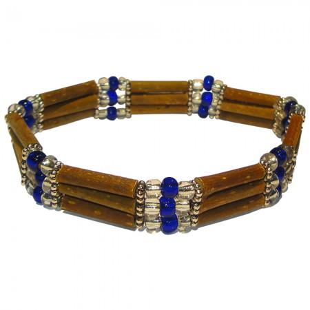 Bracelet Perles bleues foncées