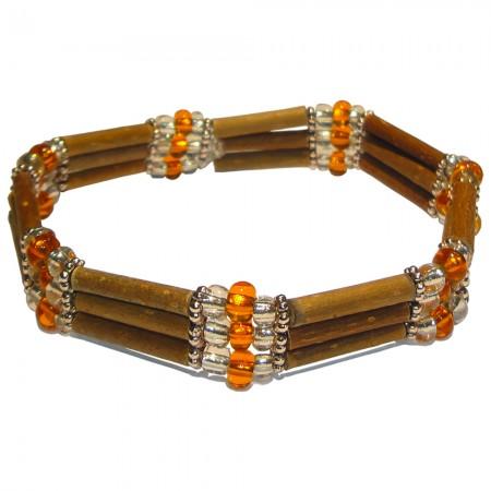 Bracelet Perles oranges