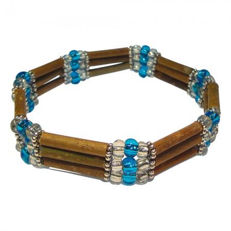 Bracelet Perles bleues claires