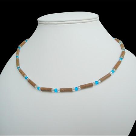 Collier Perles bleues claires