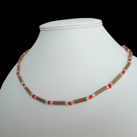 Collier Perles rouges sur mesure