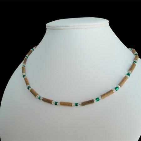 Collier Perles vertes sur mesure