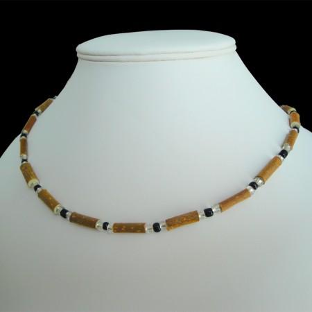 Collier Perles noires sur mesure