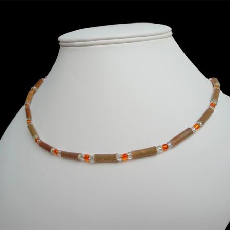 Collier Perles oranges sur mesure