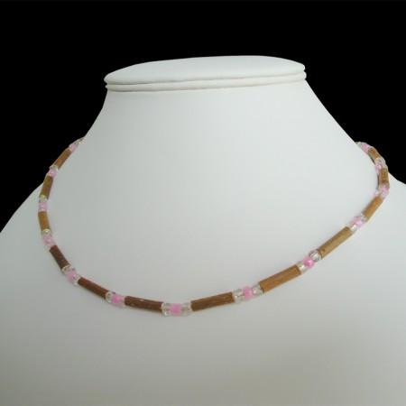 Collier Perles roses sur mesure