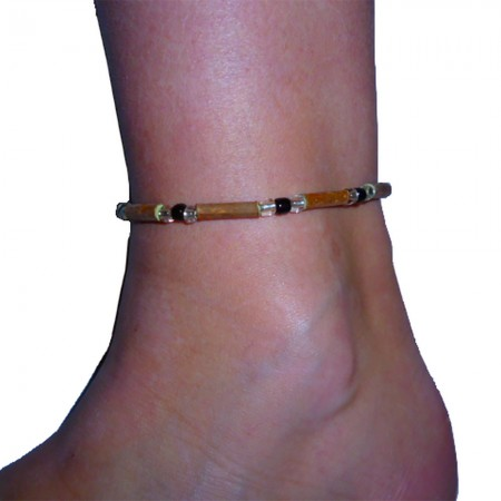 Bracelet Perles noires femme