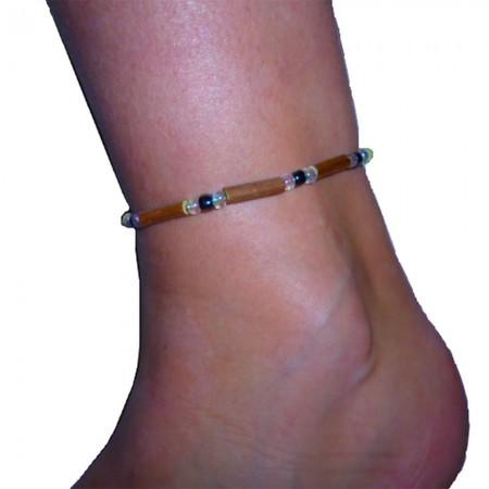 Bracelet Perles grises anthracites