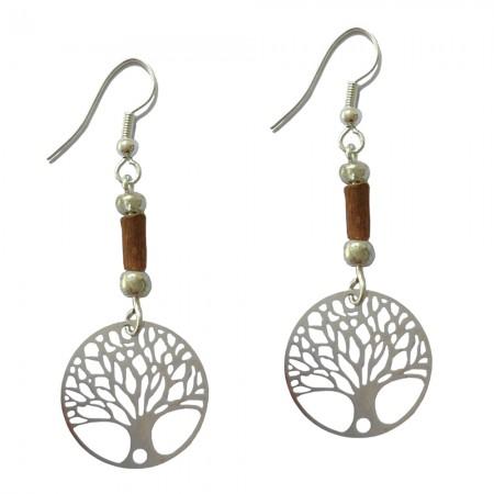 Boucles d'oreilles arbre de vie
